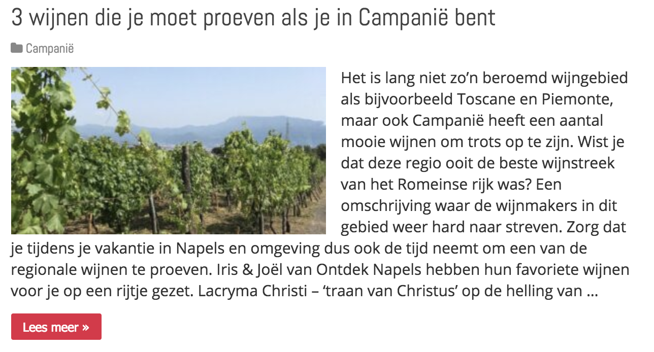 wijnproeverij napels campanie
