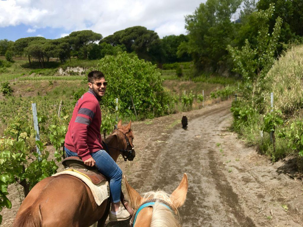 paardrijden op de vesuvius in napels
