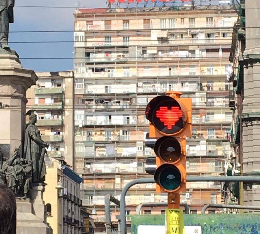stoplicht in de vorm van een hart