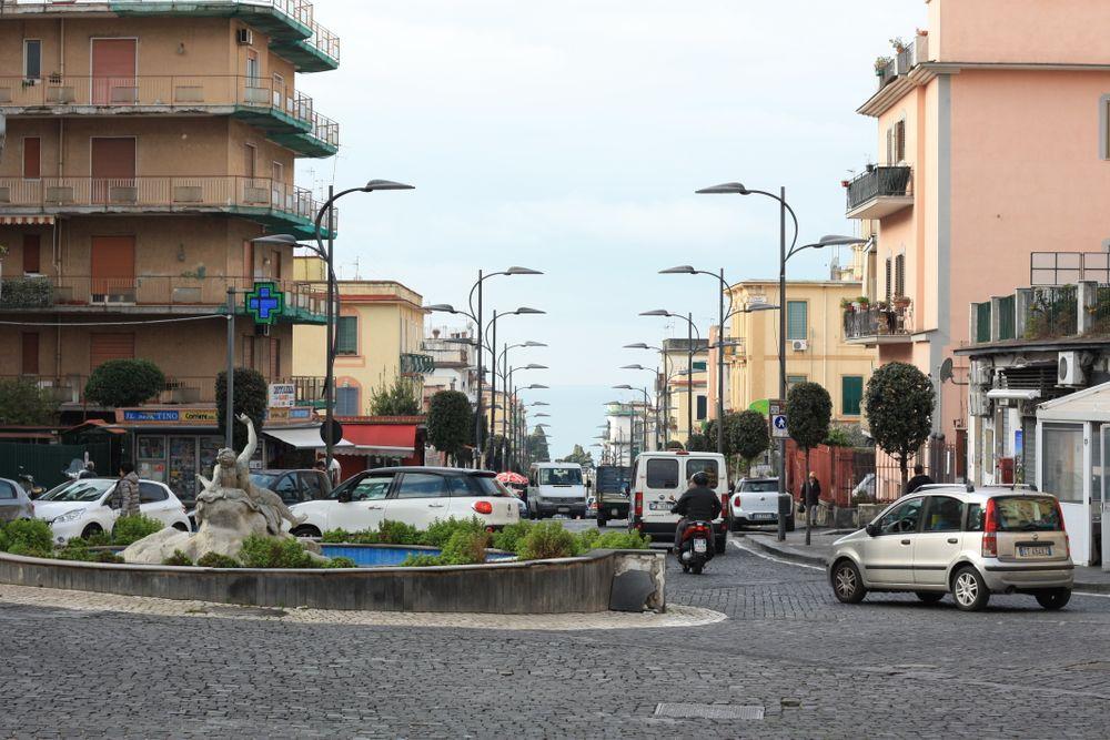 straat naar Herculaneum